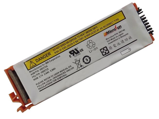 2.4Ah/8.9Wh IBM 44V7597 互換用バッテリー