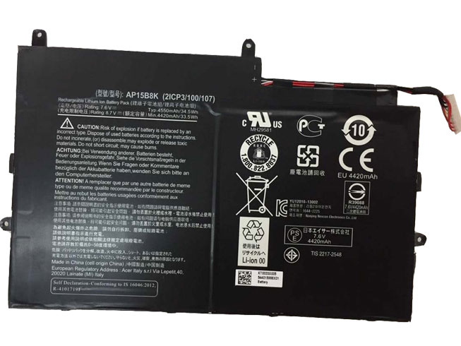 Acer AP15B8K 互換用バッテリー