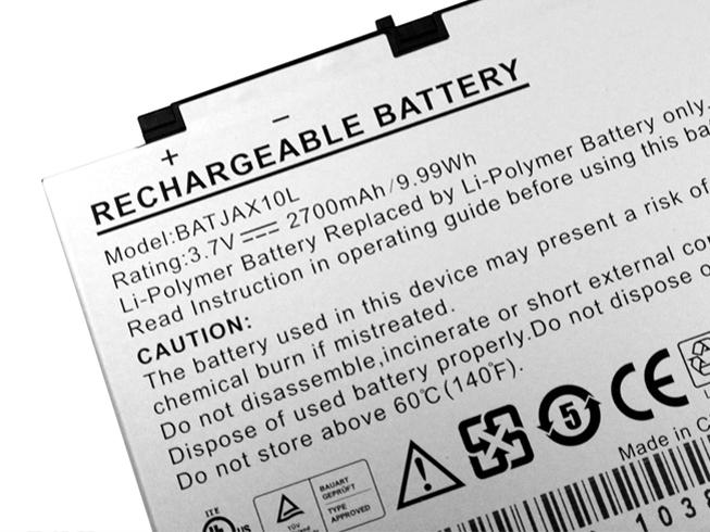 2700mAh Aigo BATJAX10L 互換用バッテリー