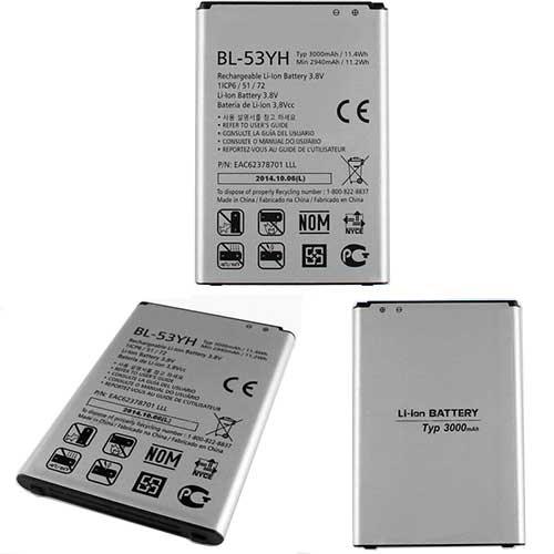 LG BL-51YF 3000mAh 3.8V ノートPCバッテリー