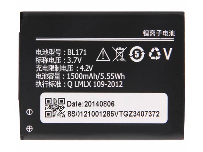 1500mah/5.55wh 3.7V LENOVO BL171 互換用バッテリー
