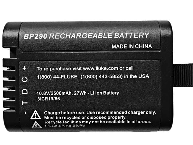 Fluke BP290 2500mAh 10.8V 電池バッテリー