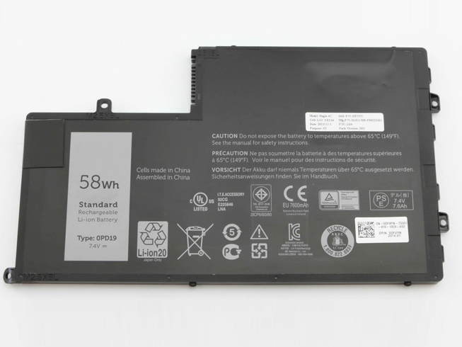 58Wh/7600mAh 7.4V DELL 0PD19