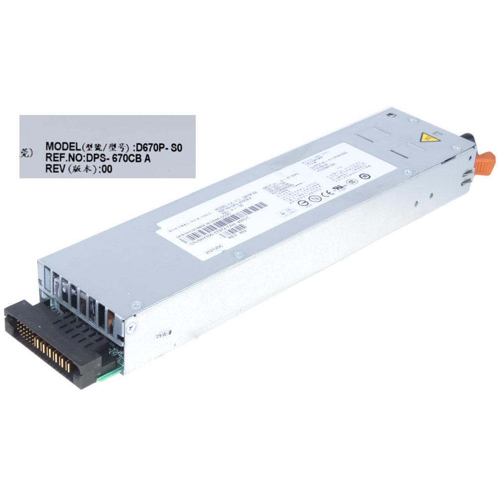 670W MAX : +12V/54.4A +3.3VSB/5.25A DELLノートPC用ACアダプター