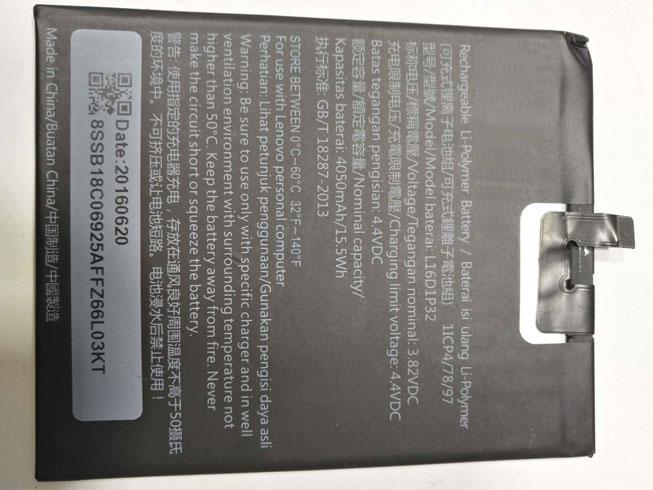4050mAh Lenovo L16D1P32 互換用バッテリー