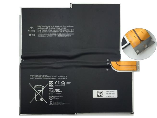 5547MAH/42.2WH 7.6V MICROSOFT 1577-9700 互換用バッテリー
