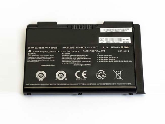 Clevo P370BAT-8 5900mAh 15.12V 電池バッテリー