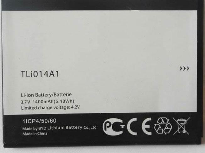 1400mah Alcatel TLi014A1 互換用バッテリー