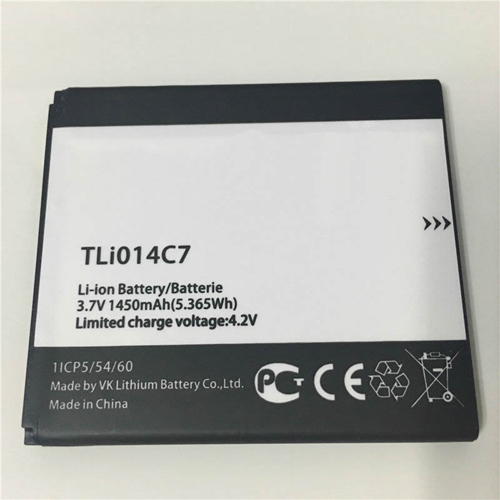 1450mah Alcatel TLi014C7 互換用バッテリー