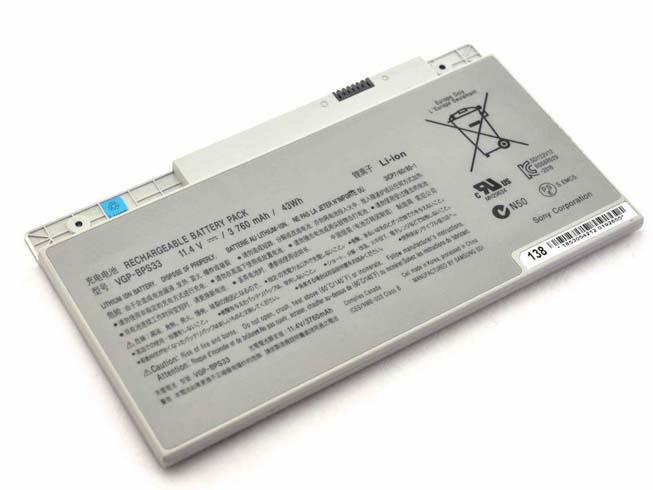 3760mAh/43WH 11.4V SONY VGP-BPS33 互換用バッテリー