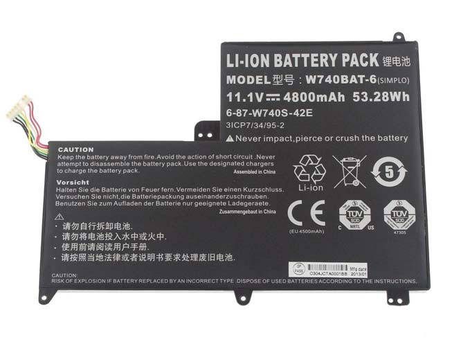 CLEVO W740BAT-6 互換用バッテリー