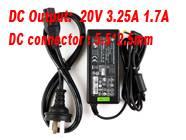 20V 3.25A PHILLIPSノートPC用ACアダプター